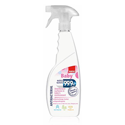 99.9% Disinfecting  Surfaces in babies environment